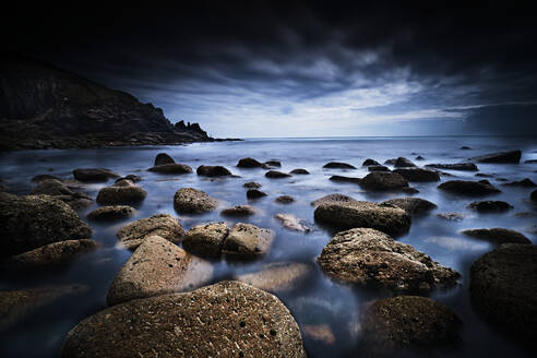 Long Exposure, Overlooking Rocks & Headland - CAVF88955