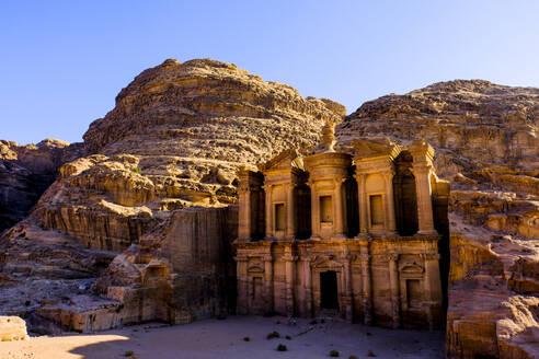 The Monastery of the ancient ruined city of Petra, Jordan - CAVF88973