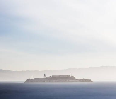 Sunrise at Alcatraz Island in San Francisco, California, USA - AHF00105