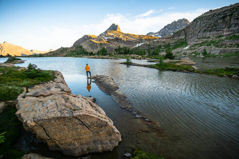 Standing in Awe of Limestone Lakes Height of the Rockies - CAVF90111