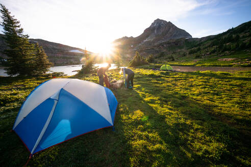 Camping at Limestone Lakes at Height of the Rockies Provincial Park - CAVF90114