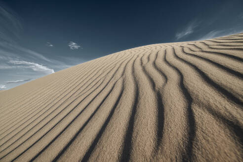 Wave pattern on Cadiz Dunes at Mojave Desert, Southern California, USA - BCDF00482