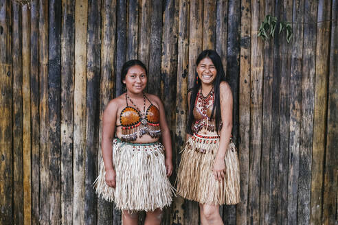 Misahualli Ecuador Portrait of a two girls belonging to the Guaraní tribe - DSIF00204
