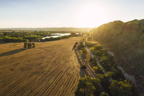 Landscape at sunset, aerial view - RSGF00448