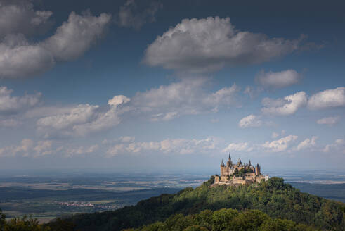 Burg Hohenzollern Castle on top of the mountain at Swabian Alb, Germany - FDF00315
