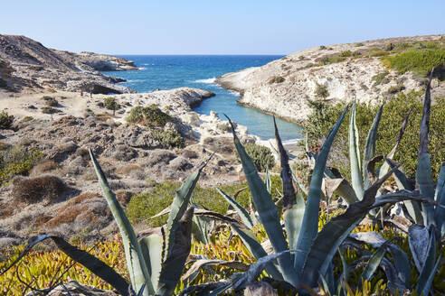 Papafragas rocky beach on Milos island, Cyclades, Greek Islands, Greece, Europe - RHPLF19052