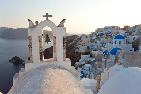 The village of Oia Santorini Cyclades islands, Greece - MINF15672
