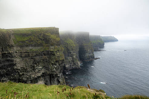 cloudy, cliffs of moher, clare, ireland - BIGF00076