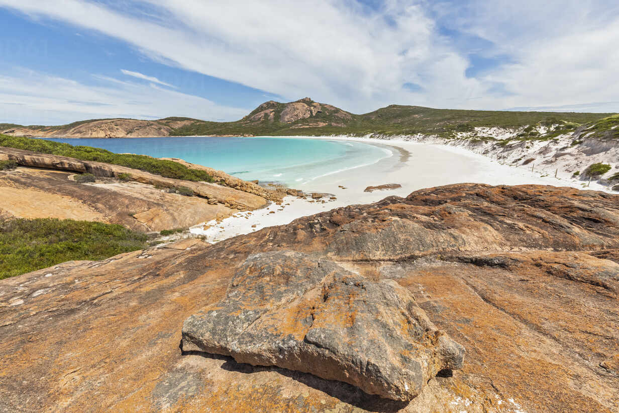 Rock formations and coast with turquoise bay, Cape Le Grand National Park,  Australia – Stockphoto