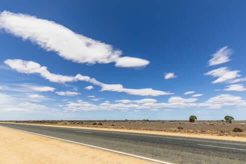 Australia, South Australia, Nullarbor Plain, Eyre Highway in desert - FOF12003