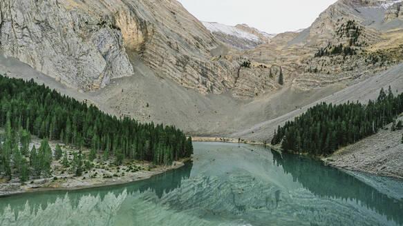 Drone view of Ibon de Plan lake - OCAF00612