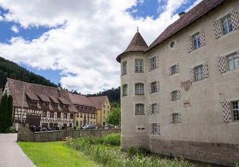 Water Castle Glatt against cloudy sky at Baden-Wuerttemberg, Sulz, Germany - HLF01246