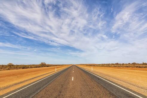 Sky over empty Lasseter Highway, Australia - FOF12036