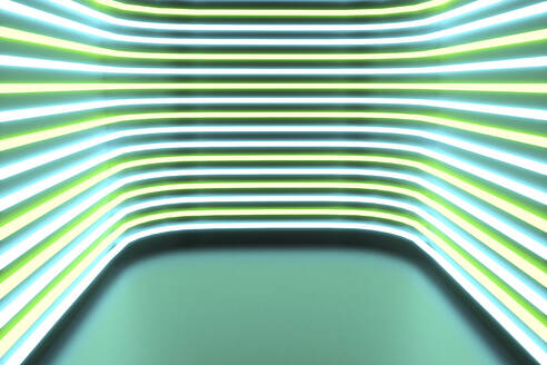 Illuminated striped green and blue lights - NMCF00032