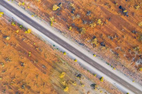 Australia, South Australia, Aerial view of Stuart Highway in Lake Hart Area - FOF12113