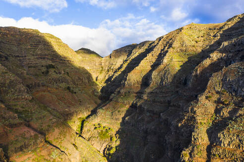 Drone view of mountain valley on La Gomera island - SIEF10111