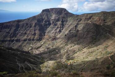 Tafelberg Fortaleza, Barranco de Erque, La Gomera, Kanaren, Spanien - SIEF10120