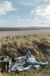 man on the beach. Dublin Ireland - BOYF01844