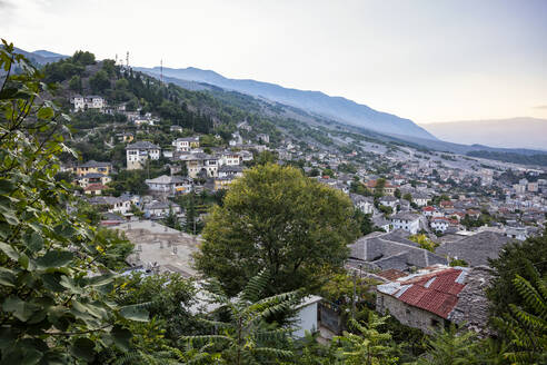 Town by Mali I Gjere mountain at Gjirokaster, Albania - MAMF01631