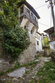House against sky at Gjirokaster, Albania - MAMF01634