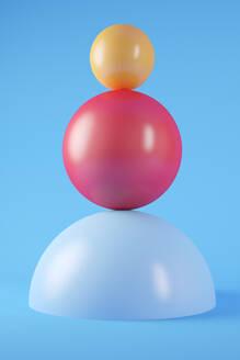 Colorful Spheres background - JPSF00048