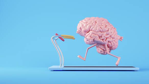 Brain running on a treadmill - JPSF00051