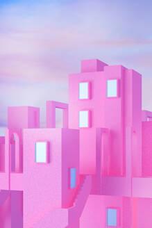 Vertical pink city - JPSF00058