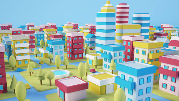 Cartoon city 3d rendering - JPSF00073